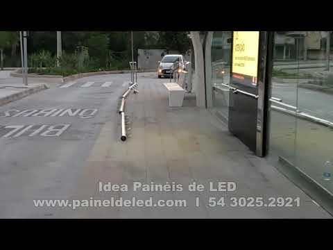 Painel de LED para estações de ônibus em Niteroi - RJ