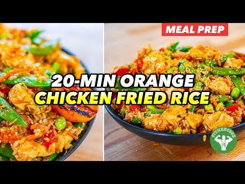 Meal Prep – 20 minute Orange Chicken Fried Rice