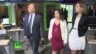 Владимир Путин посетил новый телевизионный комплекс RT