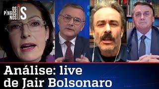 Comentaristas analisam a live de Jair Bolsonaro de 08/07/21