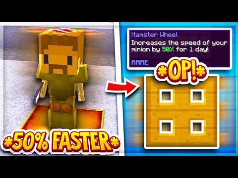 How To Increase Minion Efficiency by 50% (Hypixel Skyblock)