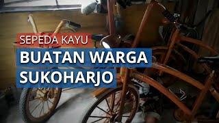 Melihat Uniknya Sepeda Kayu Buatan Warga Sukoharjo yang Sudah Diuji Keliling Solo