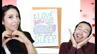 READING CUTE AND FUNNY VALENTINES DAY CARD!!COUPLES EDITION!! (2018)