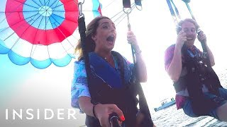 Crystal-Clear Kayaking + Parasailing | Travel Dares Ep 7