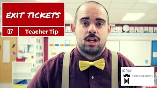 Exit Tickets (Easy Formative Assessment) | Teaching Tip