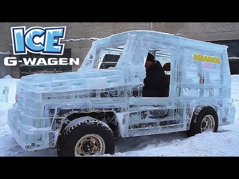 Making a Mercedes G-Wagon Out of Ice