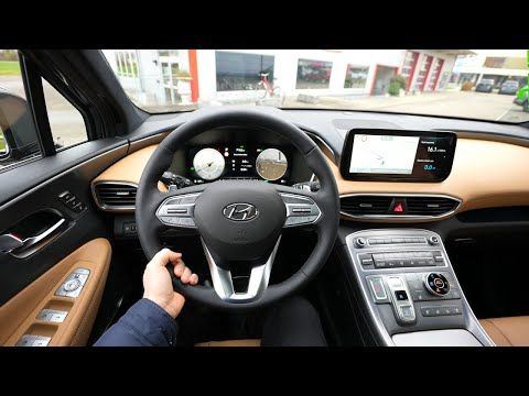 New Hyundai Santa Fe  Hybrid 2021 Test Drive Review POV