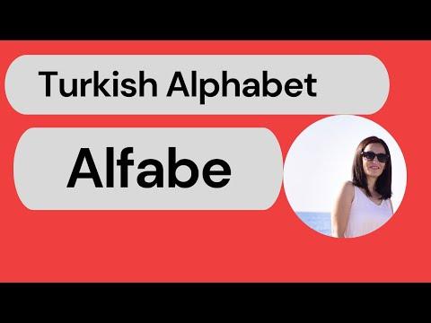 Beginner Turkish A1 Lesson 1: Alphabet/Alfabe