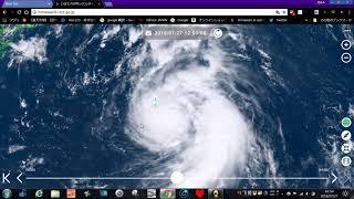 台風12号・誰でも簡単に見れる・ひまわり8号最新衛星画像の見方