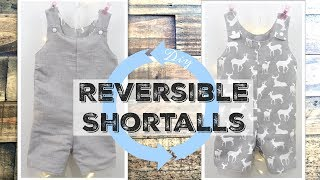 DIY Reversible Shortalls | Also Known As Jon Jons Or Baby Romper| Make Any Size You Need