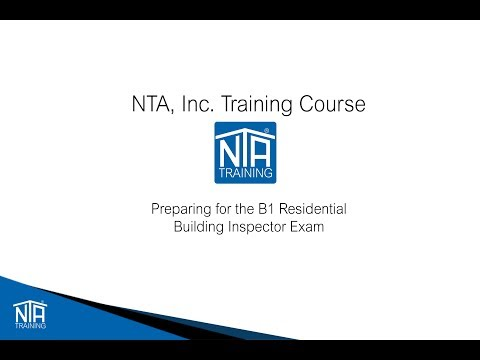 Studying for the ICC B1 Residential Building Inspector Video ...
