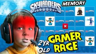 2 Year Old GAMER RAGE! Chase Plays Skylanders Memory Match (Mega Bloks Online Fun Activities)