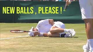 When Tennis Players hit the WRONG BALLS (Funny / Painful Nut Shots)