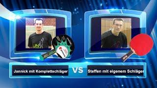 Die Challenge: Komplettschläger vs. normaler Schläger   Tischtennis Helden