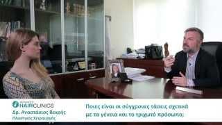 Μεταμόσχευση τριχών στο πρόσωπο & αποκατάσταση γενιών _ Δρ.Αναστάσιος Βεκρής
