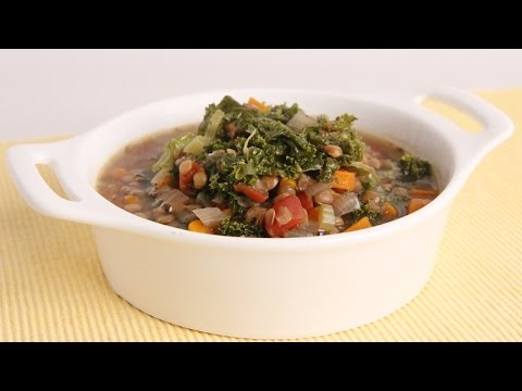 Crock Pot Lentil & Kale Soup Recipe – Laura Vitale – Laura in the Kitchen Episode 976