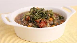 Crock Pot Lentil & Kale Soup Recipe - Laura Vitale - Laura In The Kitchen Episode 976