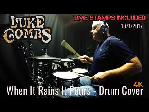 Luke Combs - When It Rains It Pours - Drum Cover (4K) Nashville mp3