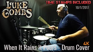 Luke Combs   When It Rains It Pours   Drum Cover (4K) Nashville
