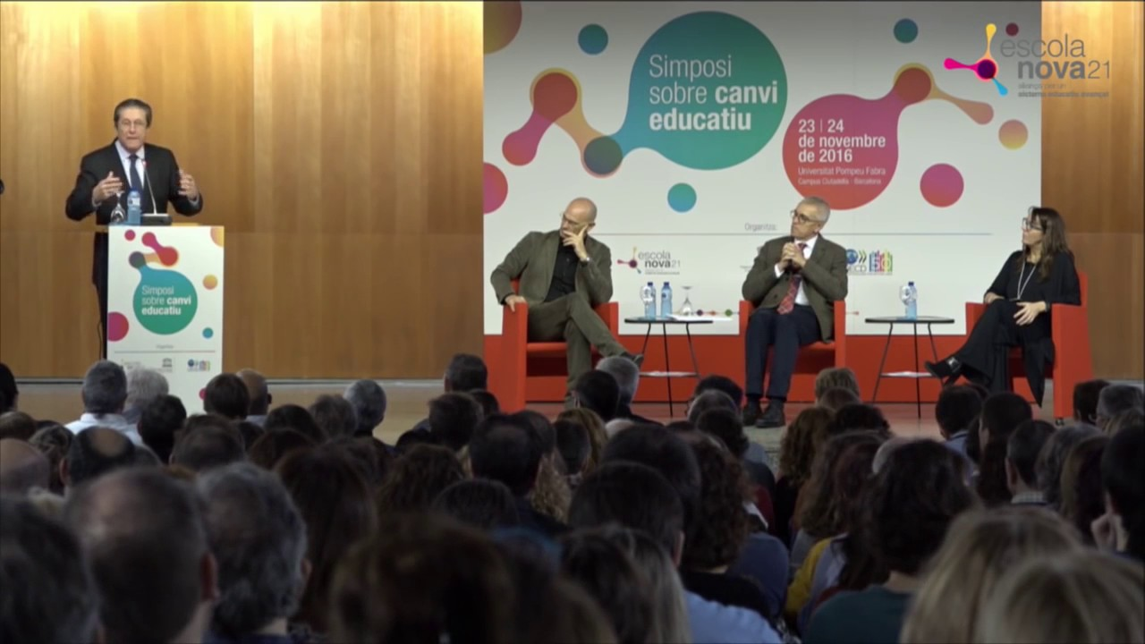 Federico Mayor Zaragoza - Intervenció inaugural del Simposi sobre Canvi Educatiu
