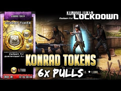 TWD RTS: 6x Konrad Token Pulls - The Walking Dead: Road to Survival