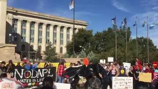 """Water Is Life"" chanted during #NoDAPL rally"