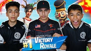WE TURNED PRO! Insane Fortnite Squad Win With Brothers! Clutch