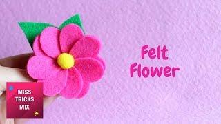 Easy Felt Heart Flower DIY Tutorial | Spring Crafts.