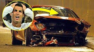 6 نجوم كرة القدم نجوا من الموت بأعجوبة بعد أن دمروا سياراتهم الفاخرة !
