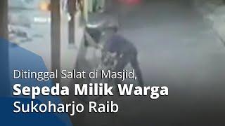 Aksi Maling Sepeda di Gumpang Sukoharjo Terekam CCTV, Ditinggal Salat Sepeda Raib