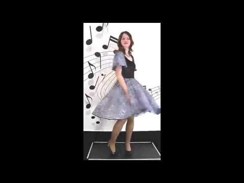 Tanzkleid / Dancedress Modell Malmö,Blau-Schwarz Pailletten