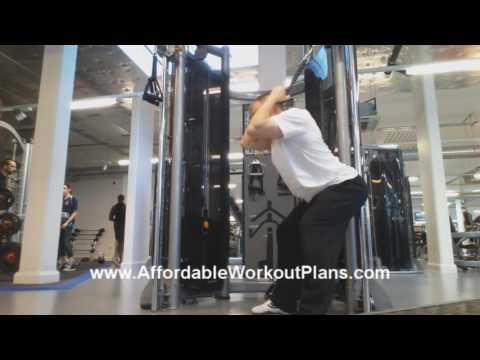 Standing Cable Straight Crunches (abs exercise)