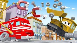 Vláčky pro děti Magnetický vlak Troy uklízí nepořádek