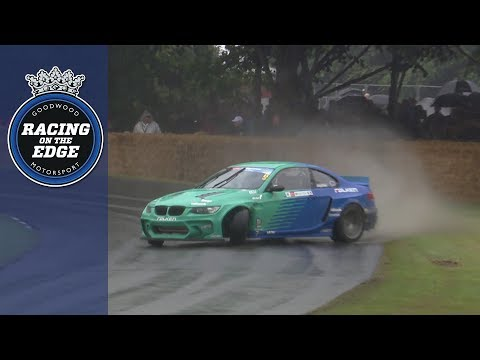 James Deane makes a splash during wet FOS drift run