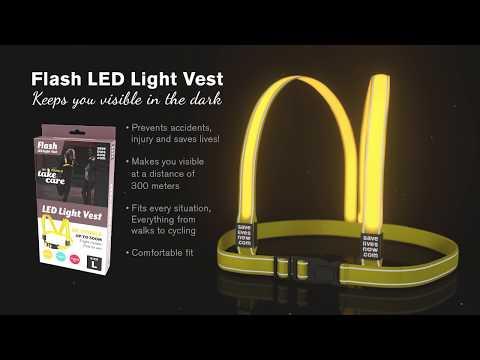 Мерцающий отражатель - браслет SLN Flash Light Band, 2 шт.