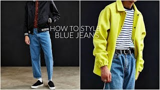 HOW TO STYLE BLUE JEANS + LOOKBOOK | Mens Fashion | Daniel Simmons