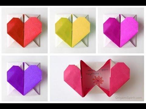 HEART BOX ♥ Cuoricino Origami con messaggio a sorpresa ♥ VIDEOTUTORIAL
