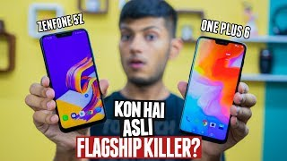 ASUS ZENFONE 5Z vs ONEPLUS 6 FULL INDEPTH COMPARISON! Performance, Camera, Battery