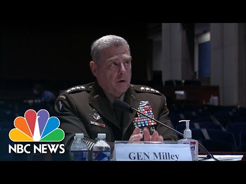 Gen. Mark Milley: U.S. 'Perhaps Not' Doing Enough Against Russia In Afghanistan | NBC News NOW