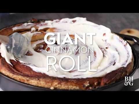 Giant Cast Iron Cinnamon Roll | Eat This Now | Better Homes & Gardens