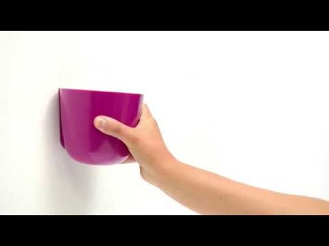 Video Sgaravatti Trend Magnetický květináč BOWL 10cm, světle zelená 1