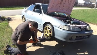 $600 Integra project: DIY Ebay coilover installation and new wheels (maxpeedingrods)