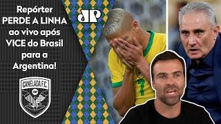 'Essa Seleção é uma vergonha!' Repórter perde a linha após vice para a Argentina