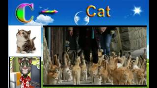 Learn alphabet through pictures and video (part 1-A,B,C,D)