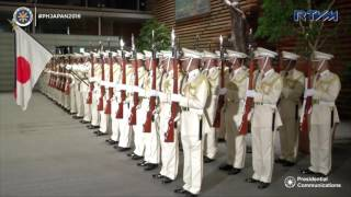 Arrival Ceremony by Honor Guards 10/26/2016