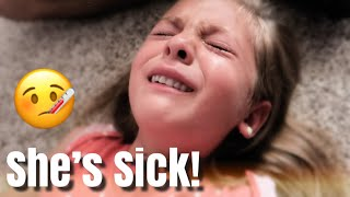 SHE'S SICK AND CONTAGIOUS! - VERY EMOTIONAL / SHE GOT SENT HOME FROM SCHOOL IN TEARS