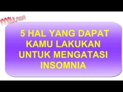 Video 5 cara untuk mengatasi insomnia