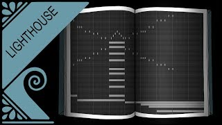 Faceless Music Diary – Lighthouse (MIDI drawing, made with an instrument of GarageBand)