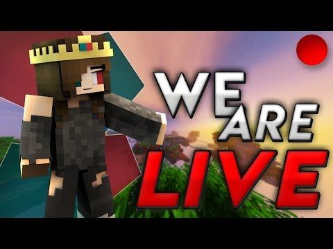 Minecraft HYPIXEL Live Stream [ROAD TO 830 -- /p join ItsShqky] Giveaway and QnA coming soon..