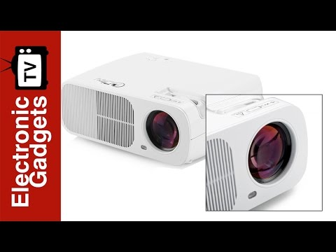 5 Inch TFT LCD LED Projector with 1080p Support and Manual Focus Lens